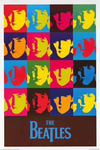"The Beatles really ""pop"" from this fantastic Warhol-style Pop Art poster! Fully licensed - 2007. Ships fast. 24x36 inches. Check out the rest of our FABulous selection of Beatles posters! Need Poster"