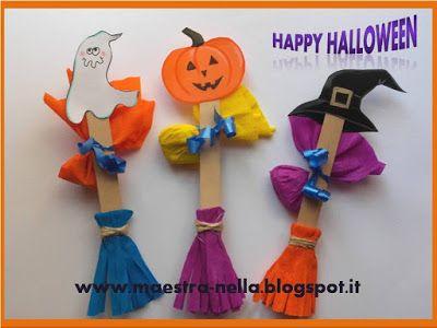 El maestro: escobas de Halloween