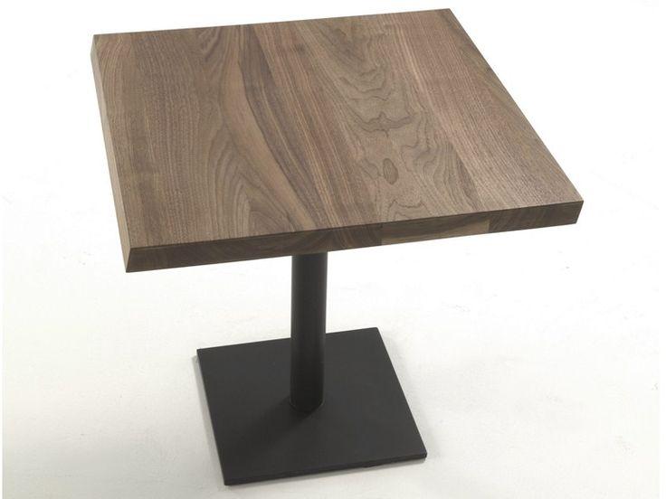 Tavolo quadrato in legno massello Pebbles by Riva 1920 | design Terry Dwan