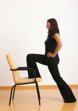 chair lunge  yoga for office work  pinterest