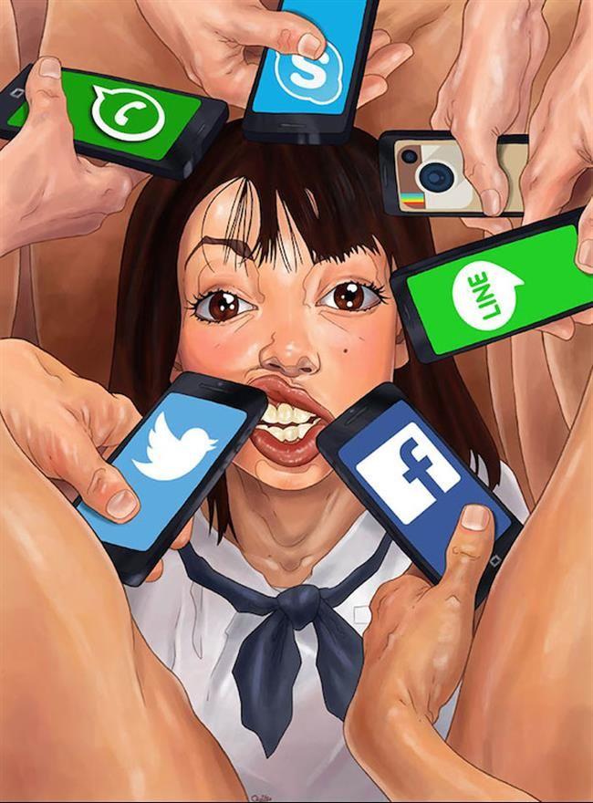 A mania das redes sociais