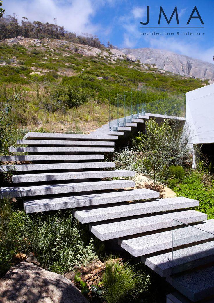 Environmentally integrated outdoor staircase.