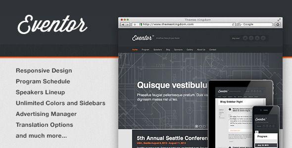 Eventor | Event Management Wordpress Theme