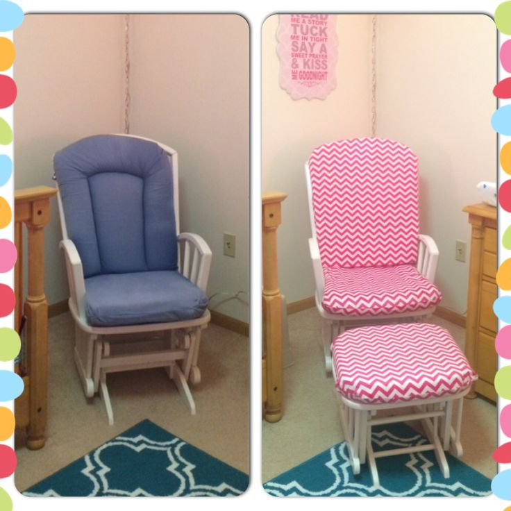 Our rocker/glider redo for the nursery.