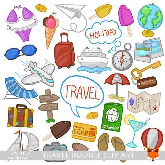 printable art Travel illustration travel clipart stickers travel downloadable digital download instant download printable travel