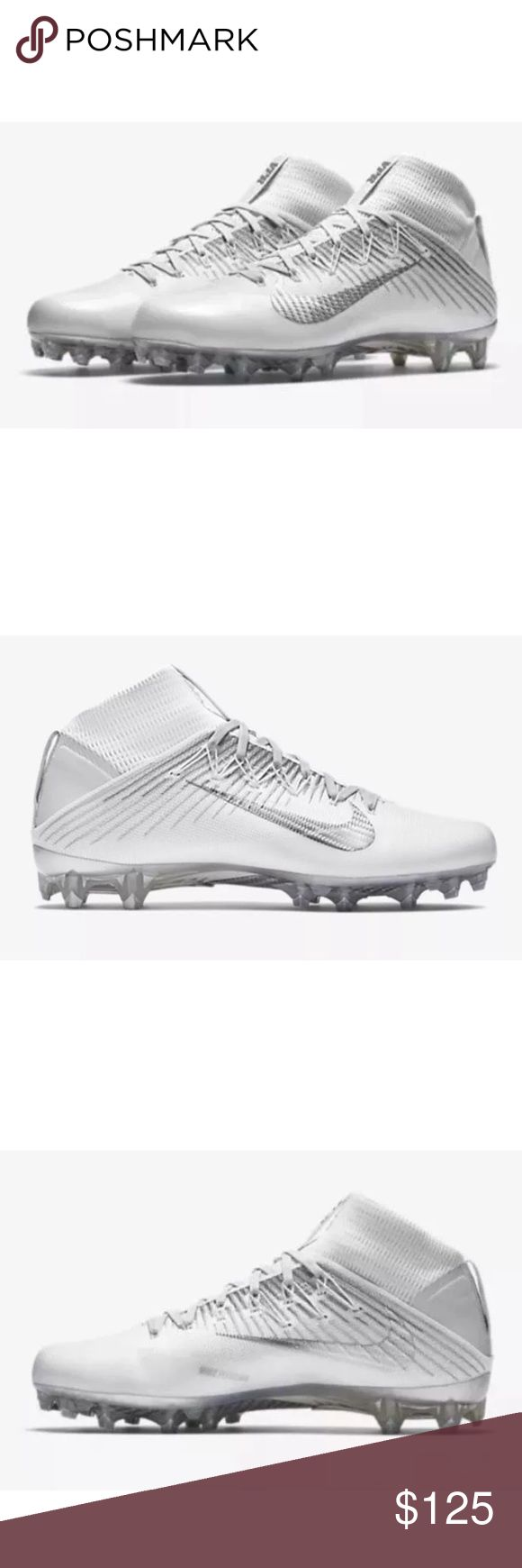 🏈 Nike Vapor Untouchable 2 WHITE Football Cleats New without Box.   I also have these in my closet in black. Nike Shoes Athletic Shoes