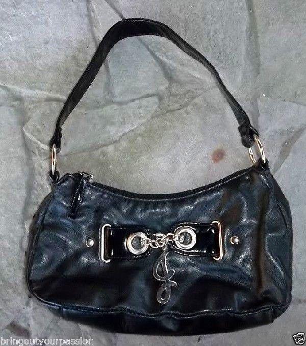 "Initial Handbag Black Fashion Purse 12"" T, 9.5"" W, Faux Leather Evening Bag #Unbranded #EveningBag"