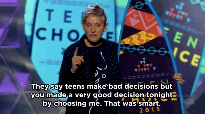 Ellen DeGeneres Won A Teen Choice Award And Her Speech Will Make You Feel Things