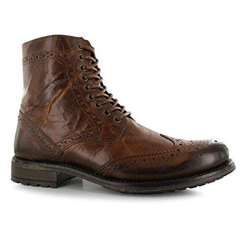 herren firetrap wayne lederen schoenen laarzen - http://on-line-kaufen