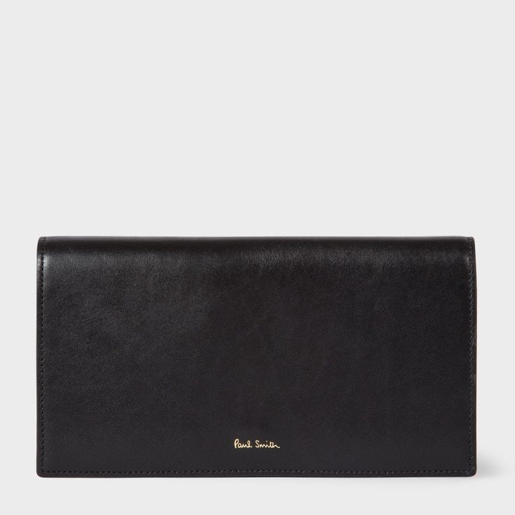 PAUL SMITH Women'S Black 'Concertina' Tri-Fold Purse. #paulsmith #all