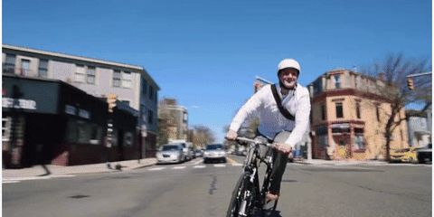 Electric bike wheel in action