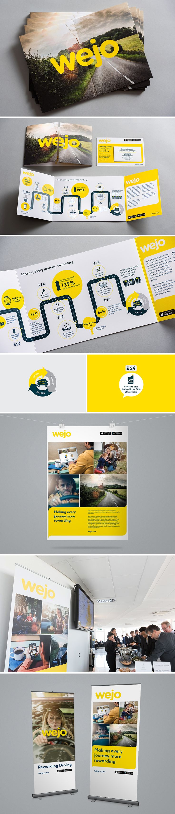 Exhibition Design | POS | Leaflet Design for Wejo by Contrast Creative  SEE MORE: http://www.contrastcreative.co.uk/wejo-conference-material/