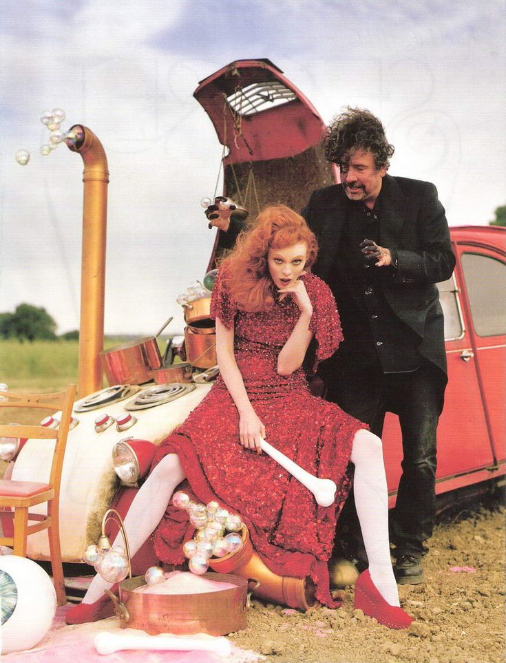 Tim Burton Helena Bonham Carter Vogue UK December 2008 Tales of the Unexpected