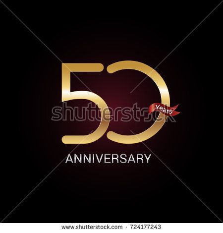50 years golden anniversary celebration logo