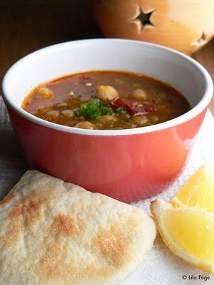 Marokkói csicseriborsó leves - Lila Füge
