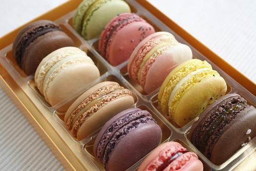 colors, cookies, food, luxury, neon, yummy, macarons