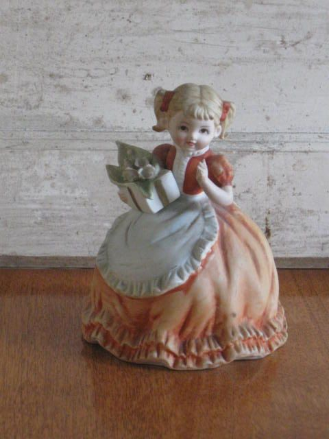 Lefton Hand Painted China Girl Figurine Statue by jonscreations