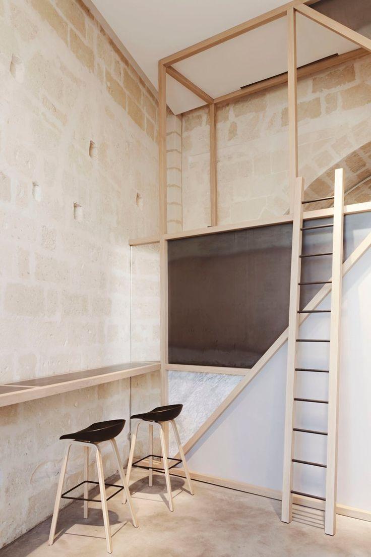 gusto rosticceria, Matera, 2015 - manca studio #architecture #interiordesign #stone #wood