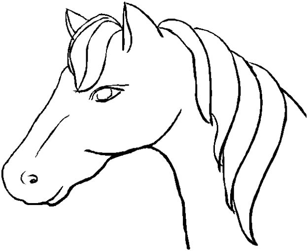 coloring book pages horse head