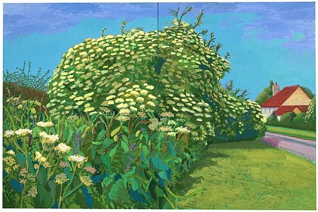 David hockney  Elderflower Blossom, Kilham, July, 2006   http://www.artnet.com/ag/fineartdetail.asp?wid=424932326=141008