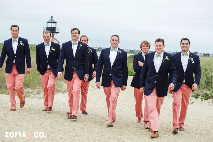 Navy and Nantucket Reds Wedding by Zofia and Co. Photography