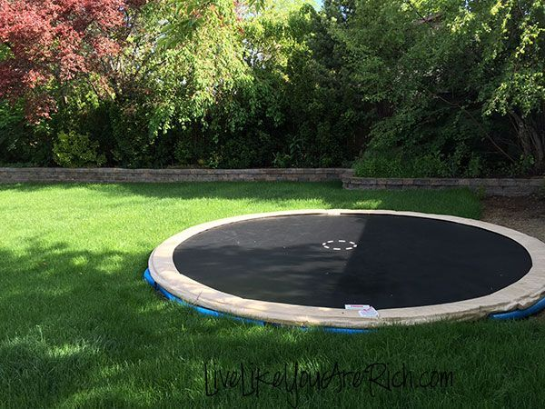 How to Install an In-ground Trampoline... I guess IF you're going to have one, this makes sense.