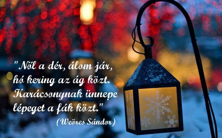 karácsonynak ünnepe weöres sándor idézet