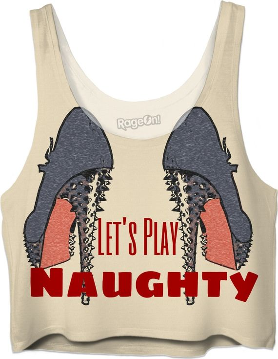 Let's Play Naughty! Sexy fetish high heels, steel blue, kinky crop top - Item printed by RageOn.comProduction Time: 7-13 business daysShipping:USA: 4-10 business daysIntern... #erotic #art #prints #canvas #decor