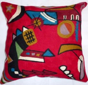 Contemporary Throw Pillows, Kandinsky Mit Und Gegen
