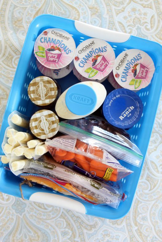 Lunchbox packing station in the fridge. Maybe streamline your nightly task?