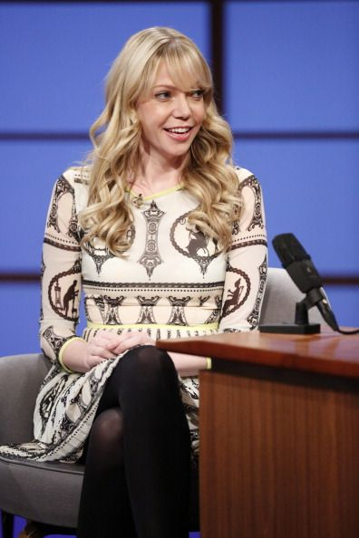 """Riki Lindhome on """"Late Night with Seth Meyers."""" Makeup by Robert Sesnek."""