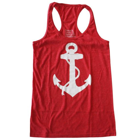 Womens ANCHOR Tank Top S M L XL by happyfamily on Etsy