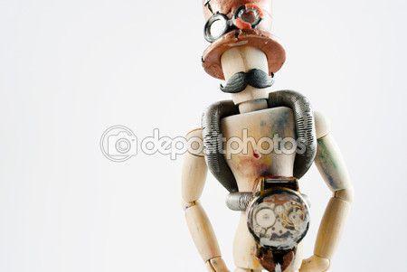 Classic wooden dummy in steampunk world. #steampunk #woodendummy #mannequin #mustache