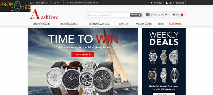 If you want to save bucks then don't forget to apply Ashford Promo codes and Coupons for saving money. PromoOcodes serves you the updated coupons on Ashford wrist watches, browse latest Ashford offers, best deals, discount deals for saving maximum money. https://www.promoocodes.com/coupons/ashford/
