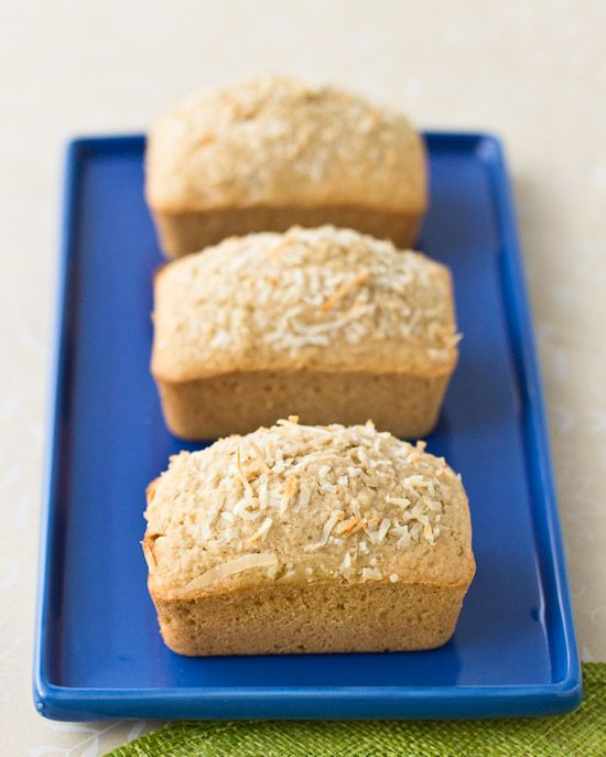 Coconut Bread Mini Loaves