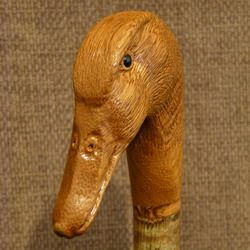 Hand Carved Bird Walking Sticks