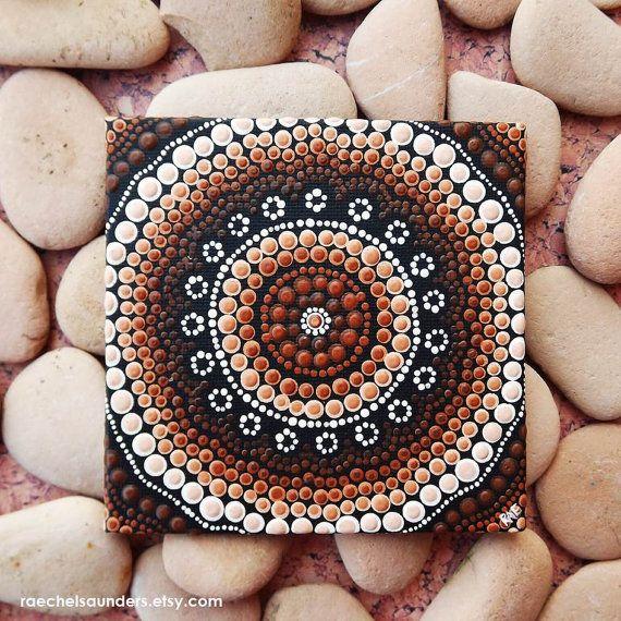 Aboriginal Dot Art Earth Painting Acrylic paint por RaechelSaunders