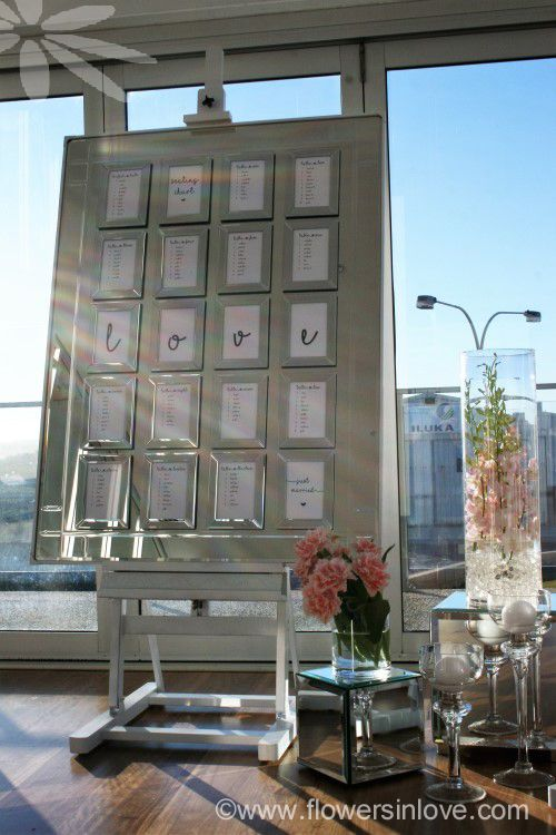 HIRE mirrored seating chart