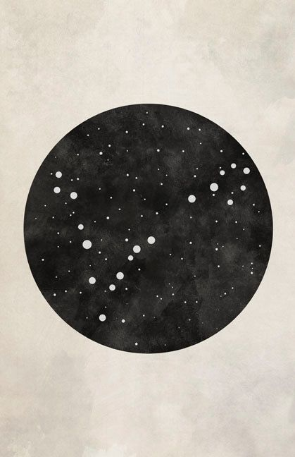 Pisces Constellation Pisces Art by blackandthemoon on Etsy