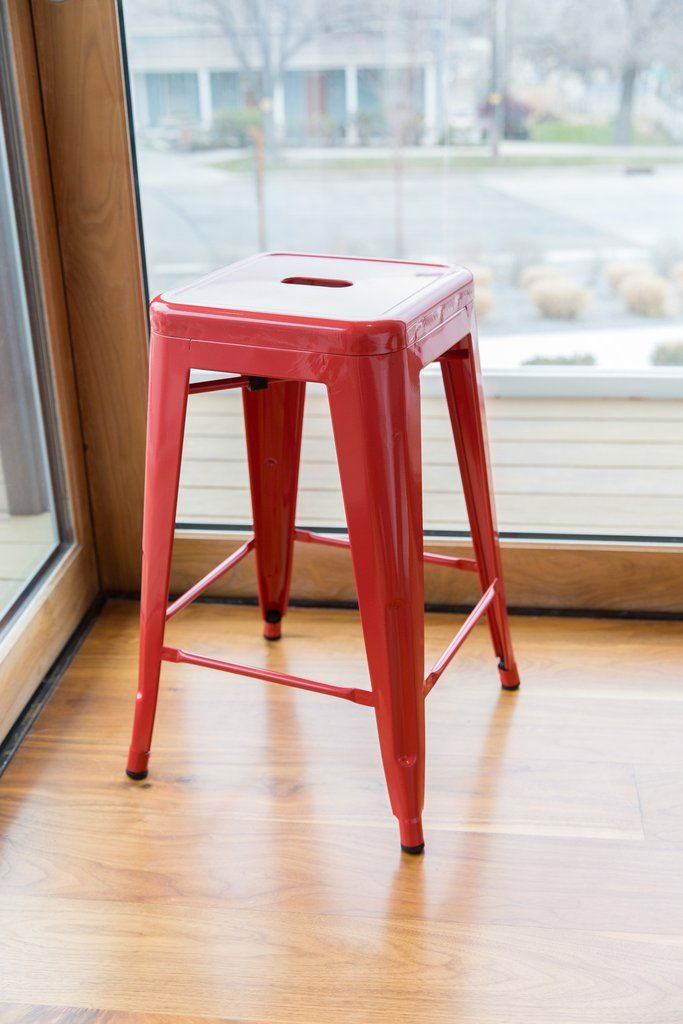 Check out our beautiful RED stools right here at UrbanMod: https://www.urbanmod.net/collections/stools/products/24-steel-counter-height-stool-red-set-of-four #stools #urbanmodern #midcenturymodern