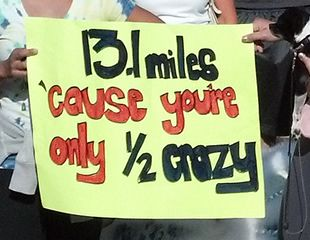 For my fellow 1/2 marathon friends..my husband has actually told me this prior to me seeing this !!