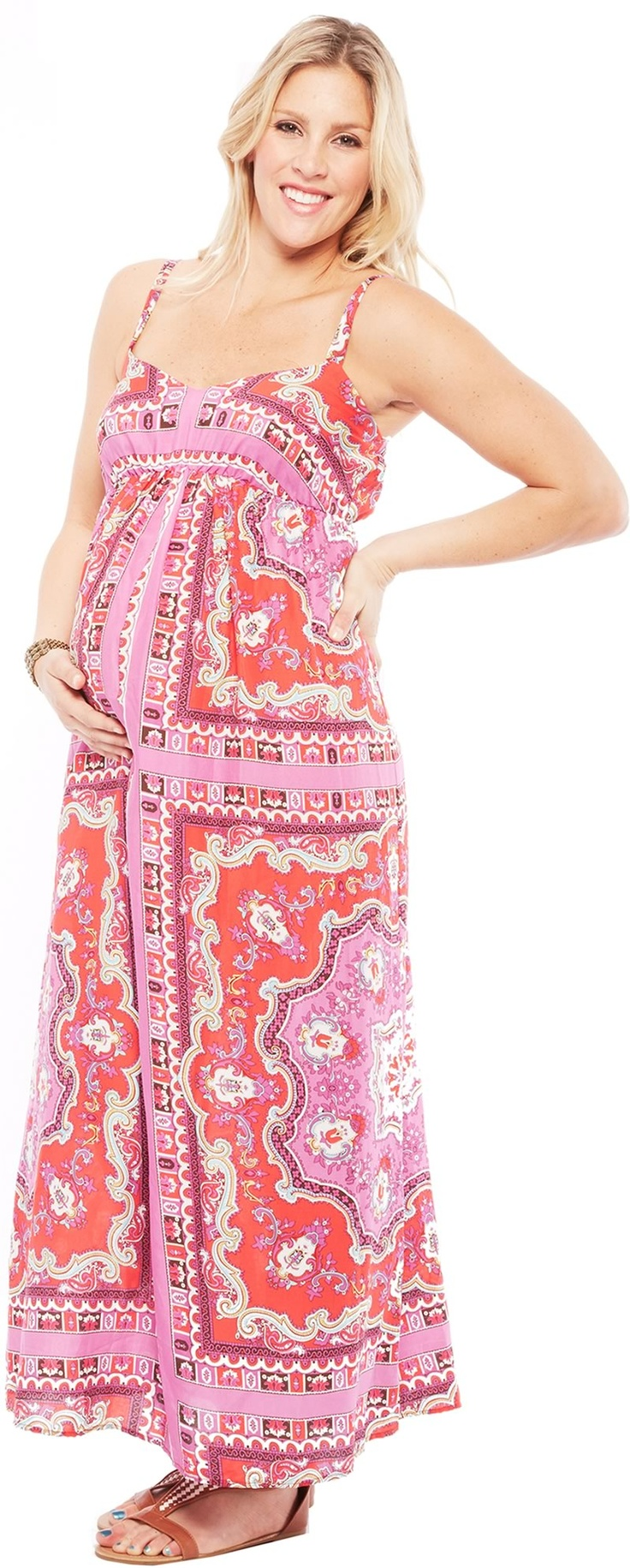 Athena massey red alert pictures to pin on pinterest - Jules Jim Print Maxi Maternity Maternitydresses