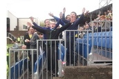Torquay United fans in full voice at Hereford