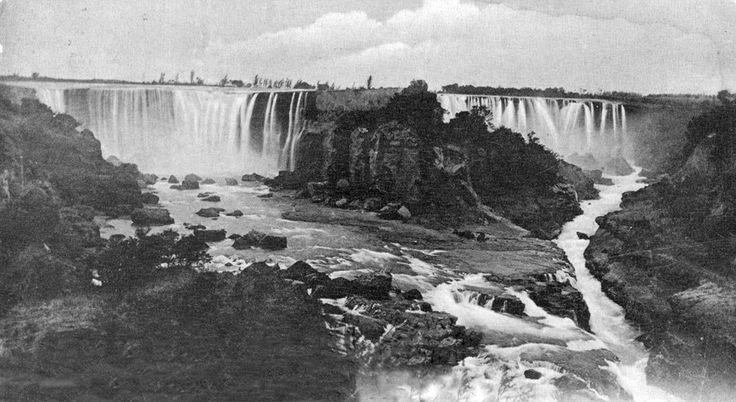 Salto del Laja en el año 1911.