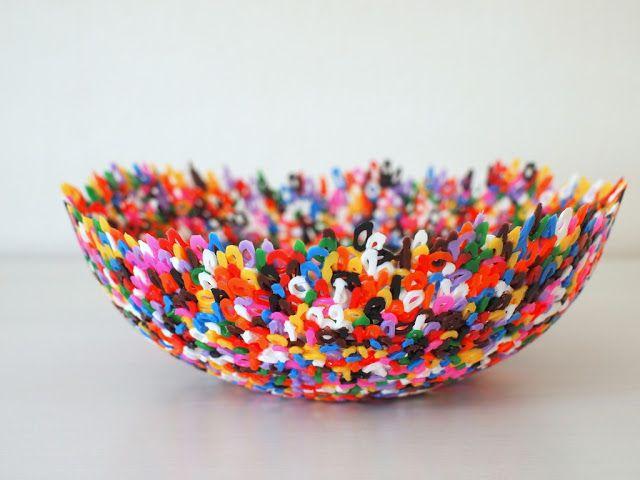 Make Perler bead bowls (and words)