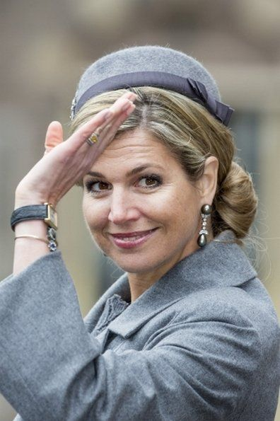 King Willem-Alexander and Queen Maxima of the Netherlands attends the ceremony of the Military Order of William (Militaire Willemsorde) to honor and award the Commando Corps at the Binnenhof on March 15, 2016 in the Hague
