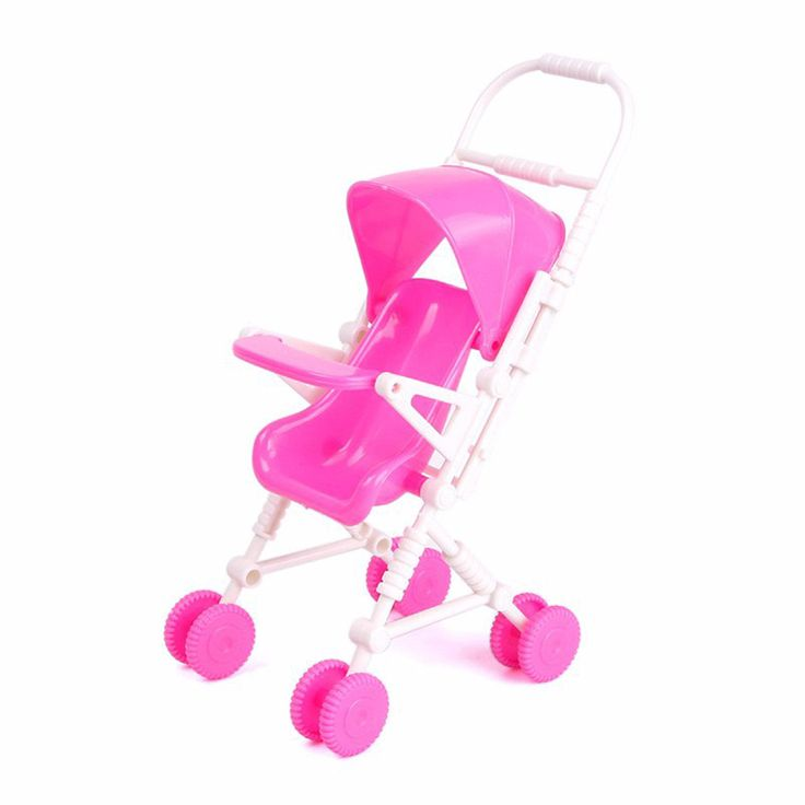 >> Click to Buy << Pink Baby Stroller Doll Accessories Miniature Doll Plastic Furniture Baby Carriage Stroller Trolley Nursery Toy For Girl #Affiliate