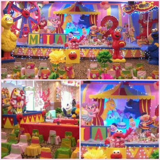 Mia's 2nd #Birthday #party. #elmo #circus theme by #wishmaster_eo
