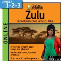 Instant Immersion Zulu - Level 1, 2 & 3 (2-year subscription) [Download] //  Description Start learning a new language now with this online subscription version of Instant Immersion's award-winning language-learning software. Log in to Levels 1, 2 & 3 at any time on any computer! Great for travel, business or school, Instant Immersion helps you learn as quickly, easily and naturally as pos// read more >>> http://Erick615.iigogogo.tk/detail3.php?a=B00CUKOD5Q