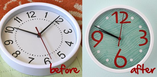 Don't love the paper used, but really good idea for customizing a clock, under $10 (way less if you use a clock you already have)